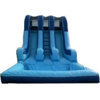 (C) 16ft Dual Lane Water Slide