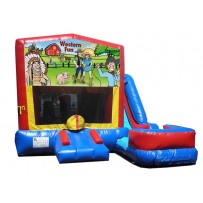 (C) Western Fun - 7n1 Bounce Slide combo (Wet or Dry)