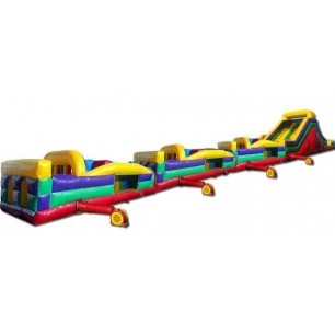 130ft Wet Collossal Obstacle Course w/16ft slide