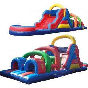 40ft Wet Obstacle Course w/12ft slide