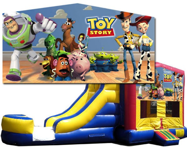 C Toy Story 2 Lane Combo Wet Or Dry 2 Lane Bounce Slide Combos