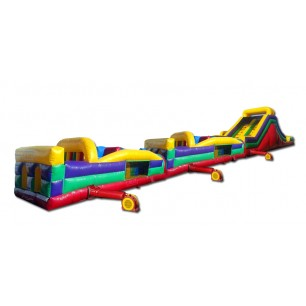 (C) 95ft Dry Obstacle Course w/16ft slide